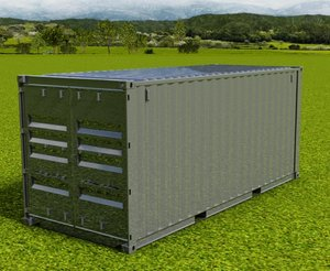 3d - 20ft iso shipping container