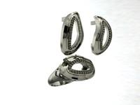 3d ring earrings