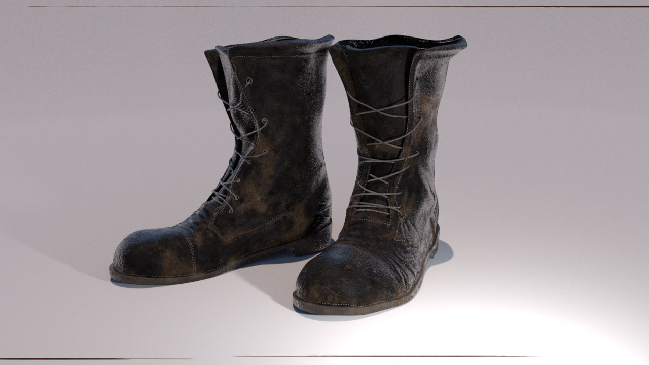 military boots obj