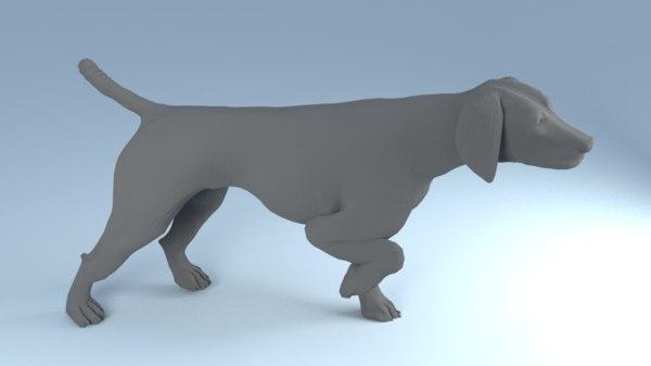 hunting dog obj