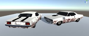 free muscle car 3d model