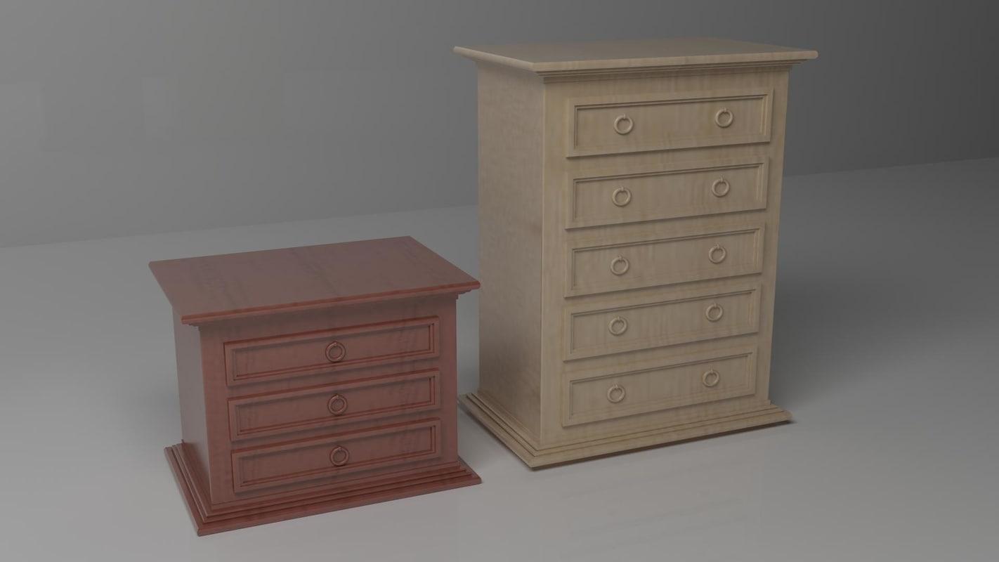 3d drawers small medium
