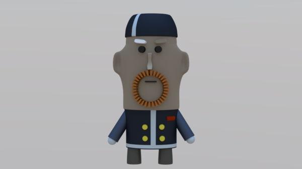 guy toy 3d model