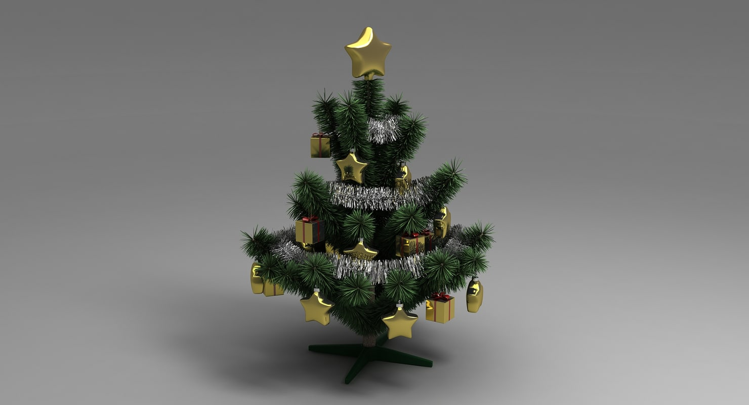 small christmas tree 3d model