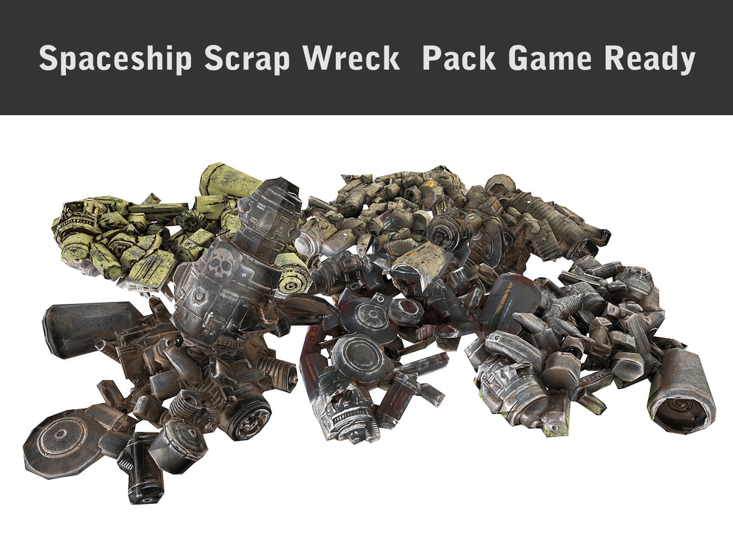 3d model of spaceship scrap wreck