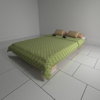 window bed pillows sleeping 3d blend