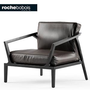 3d model chair armchair roche