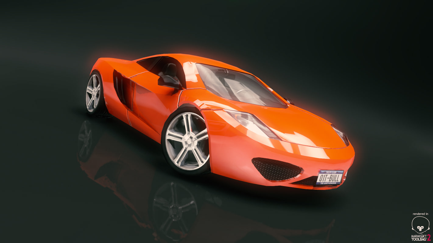 3d fantastic race car model
