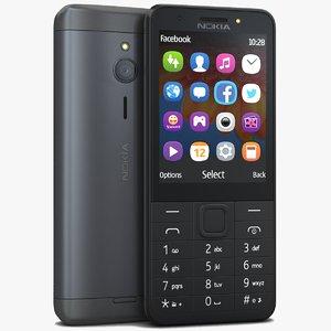 3d model nokia 230 black