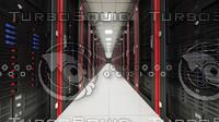 3d model of server room