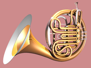 3d french horn