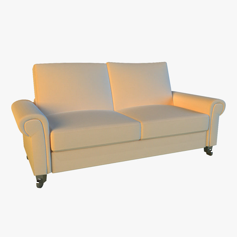 sofa white modern 3d model