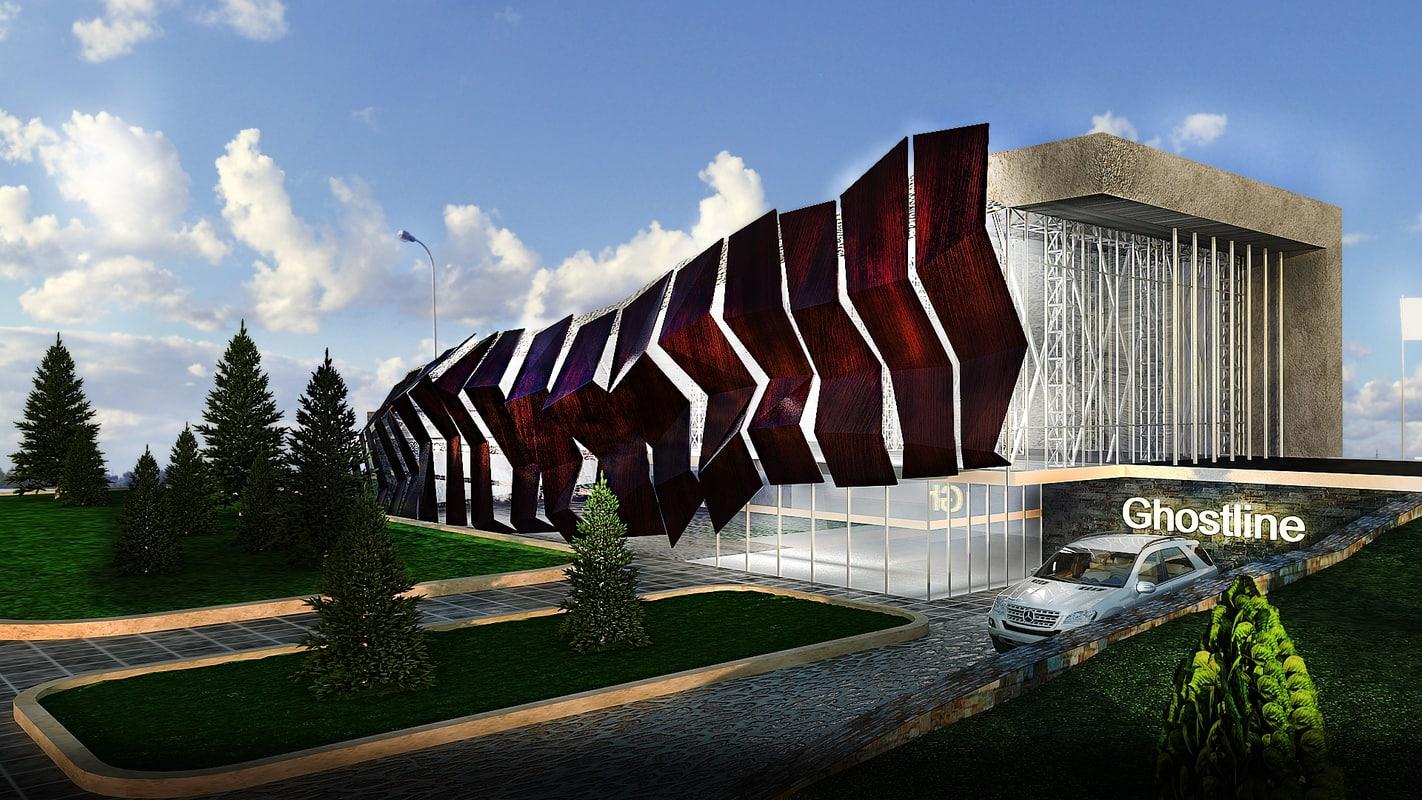 3d designed office building model