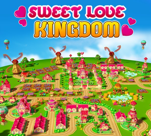 3d sweet love kingdom model