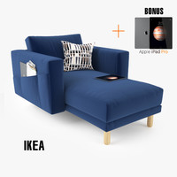 3d ikea morsborg chairse sofa seat model