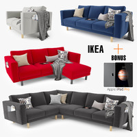 3d ikea morsborg sofa series