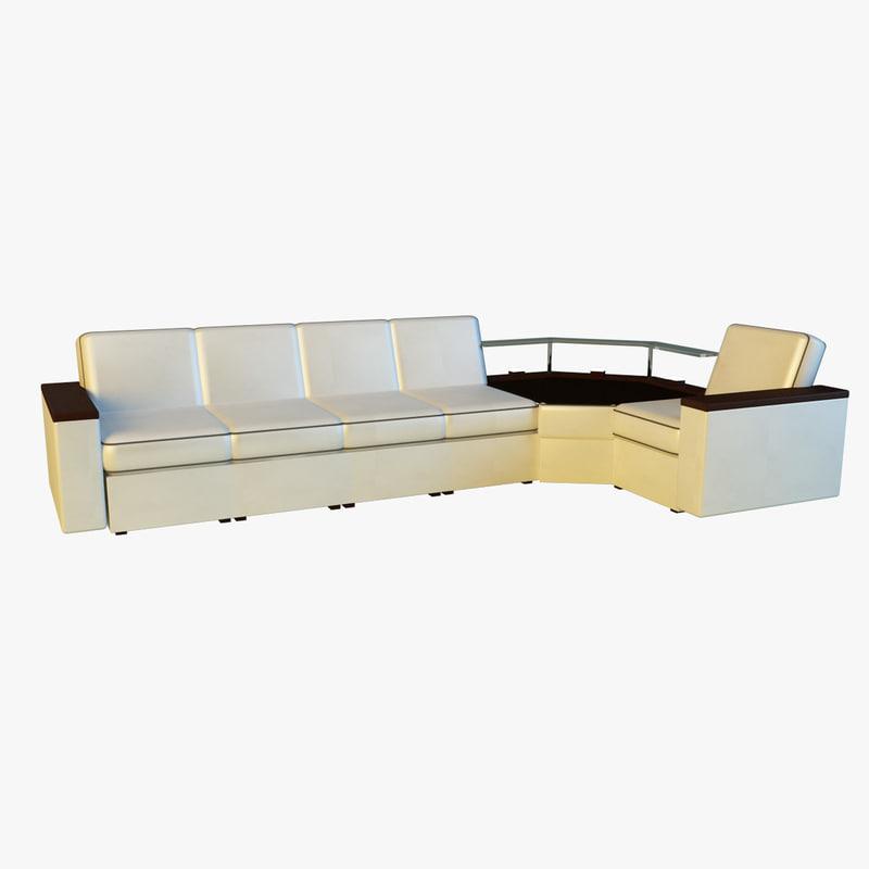 corner modern sofa 3d model
