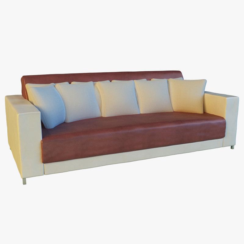 3d leather sofa pillows long