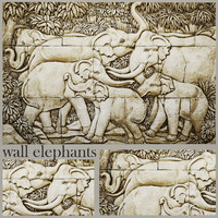 elephant bas-relief 3d max