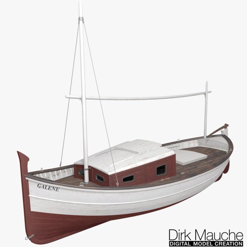 fishing boat 3d fbx