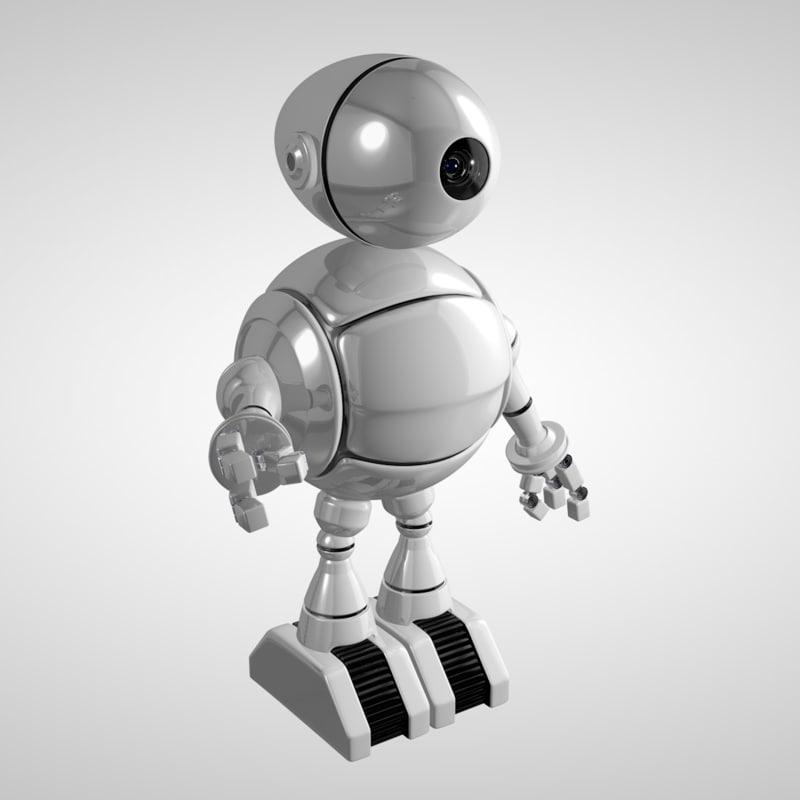 c4d cartoon robot