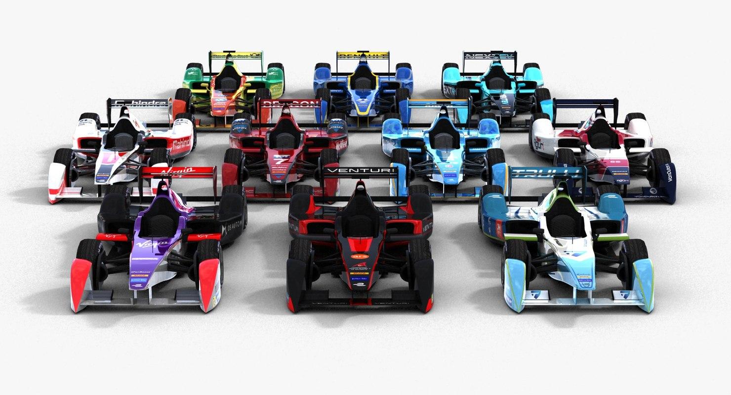 3d formula e teams pack model