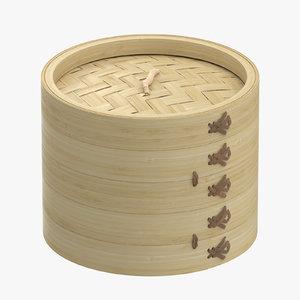 3d small bamboo steamer