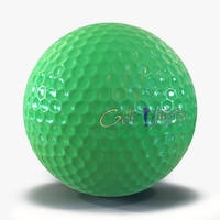Golf Ball Green 3D Model