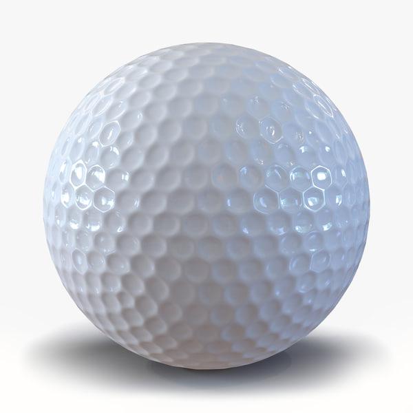 golf ball generic 3d obj