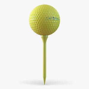 3ds golf ball tee yellow