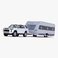 Toyota 4Runner and Hobby Caravan Prestige