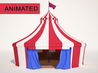 Animated Circus Tent with Interior