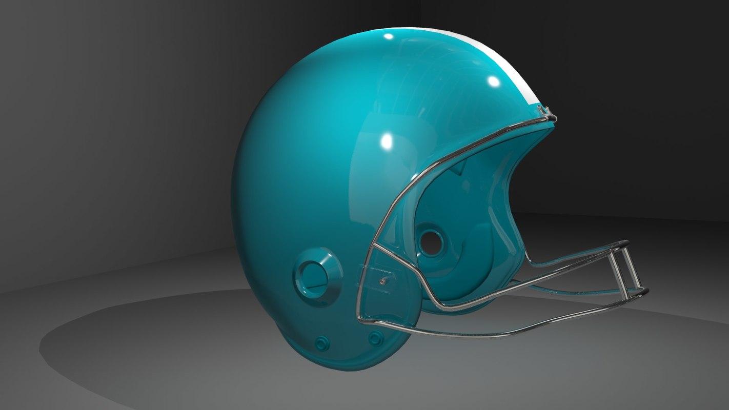 football helmet 3d max