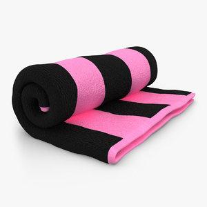 3ds towel roll open black