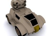 3d military concept car