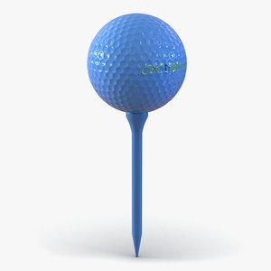 golf ball tee blue 3ds