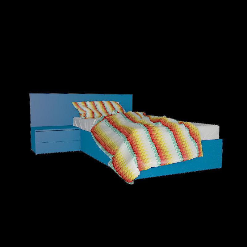 v-ray bed mattress pillow 3d max