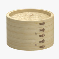 medium bamboo steamer 3d max