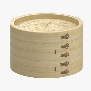 medium bamboo steamer 3d max