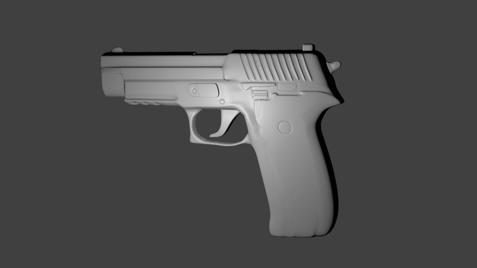 3d sig p226 pistol model