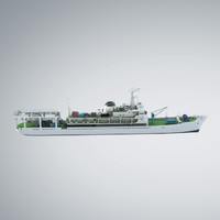 research vessel 3d obj