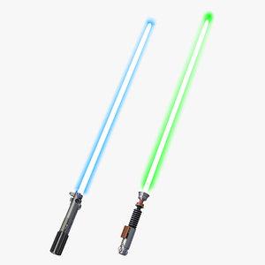 star wars luke skywalker 3d model