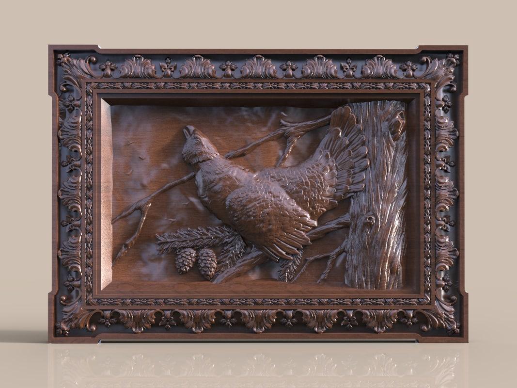 panel grouse 3d obj