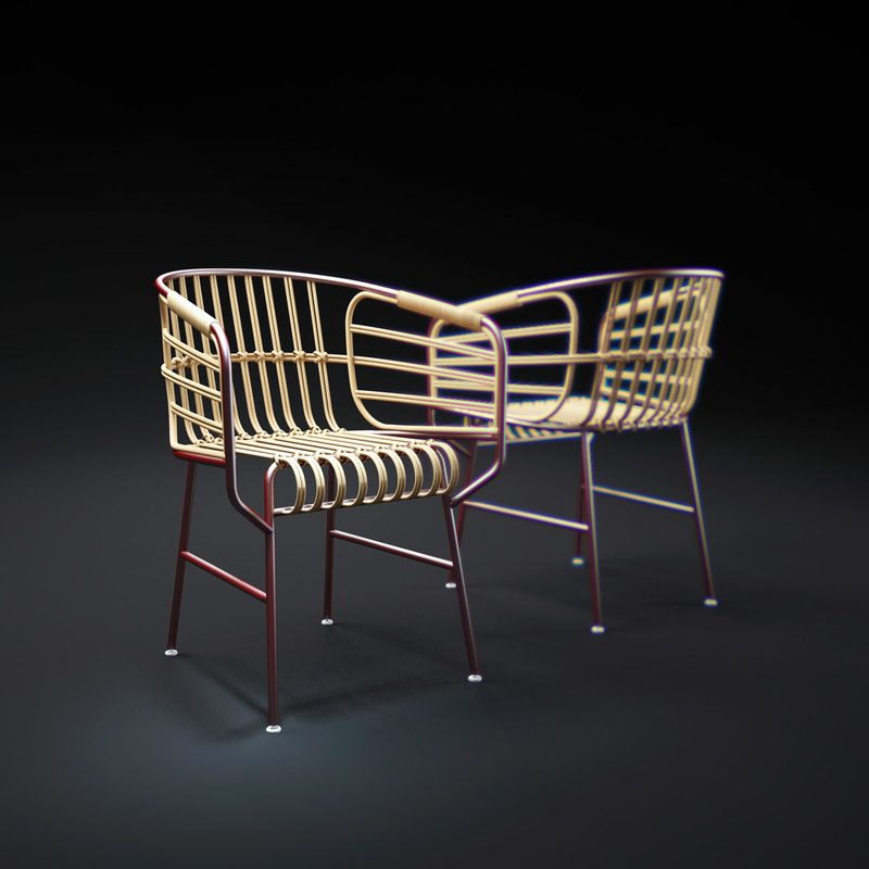 3d raphia-chair