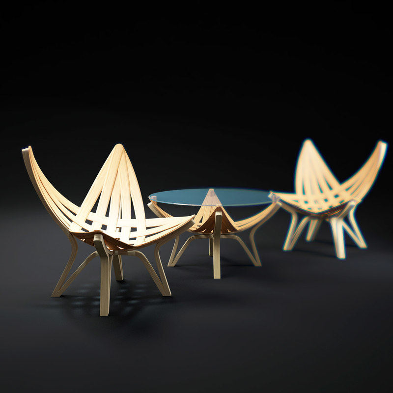obj star-series-chair-and-table