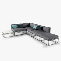 cloud lounge sofa 3d model