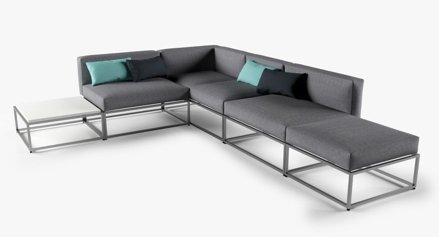 cloud lounge sofa 3d model