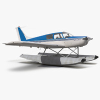 light aircraft piper pa 3d model