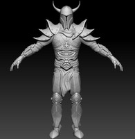 3d sculpt knight model
