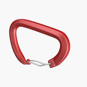 3d wire gate carabiner model